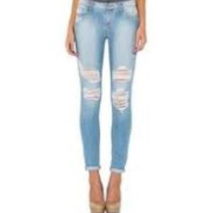 Cello Jeans Destroyed Skinny Jeans Size 5